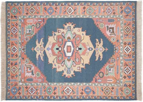 6×9 Serapi Blue Oriental Rug 012548