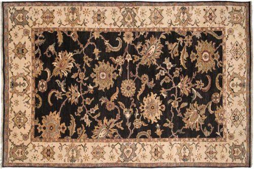 6×9 Sultanabad Black Oriental Rug 017713