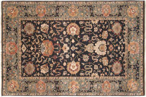 6×9 Sultanabad Black Oriental Rug 017782