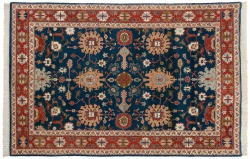 6×9 Sultanabad Blue Oriental Rug 024611
