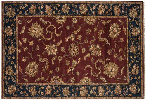 6×9 Sultanabad Burgundy Oriental Rug 017761