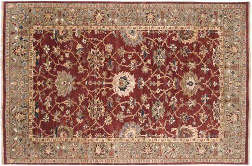 6×9 Sultanabad Burgundy Oriental Rug 017763