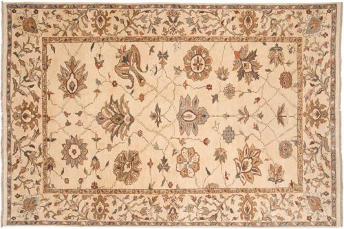 6×9 Sultanabad Ivory Oriental Rug 017714