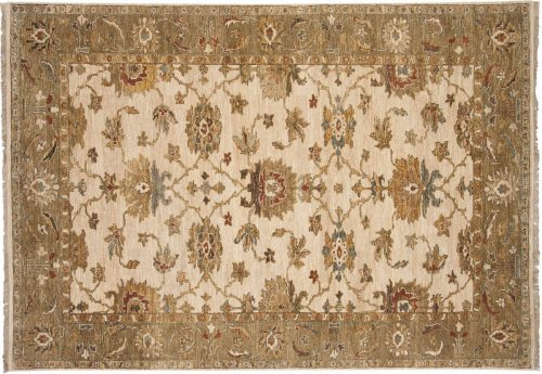 6×9 Sultanabad Ivory Oriental Rug 017764