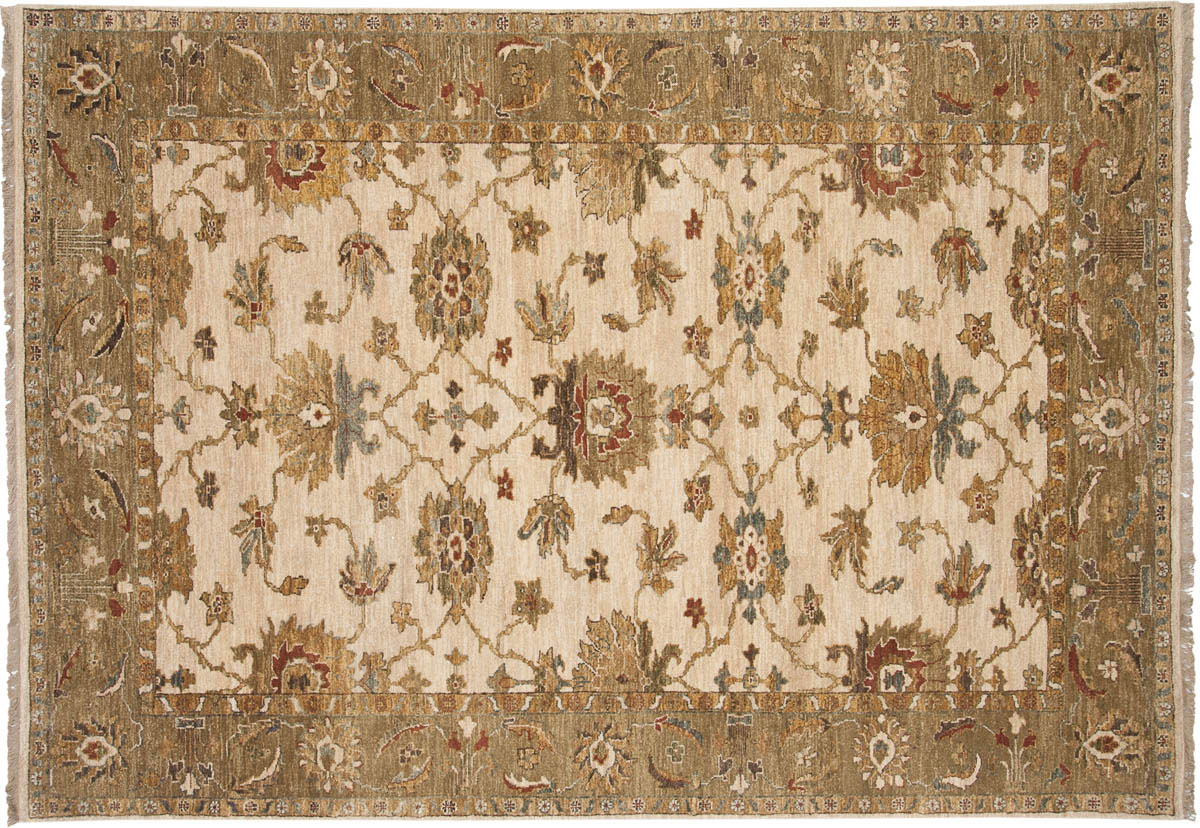 6x9 Sultanabad Ivory Oriental Rug 017764