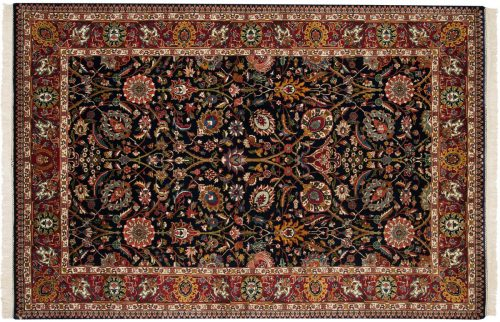 6×9 Tabriz Blue Oriental Rug 017081