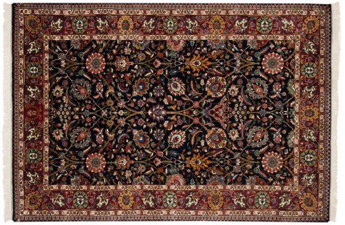 6×9 Tabriz Blue Oriental Rug 017082