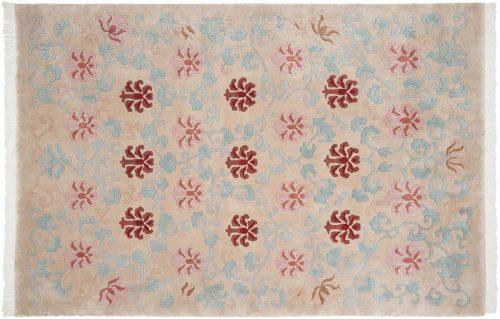 6×9 Tibetan Beige Oriental Rug 036115