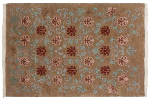 6×9 Tibetan Beige Oriental Rug 036218