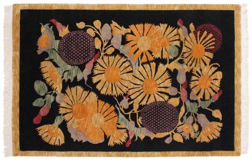 6×9 Tibetan Black Oriental Rug 016891