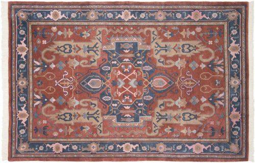 6×9 Oushak Rust Oriental Rug 036217