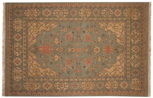 6×9 Turkish Teal Oriental Rug 012808