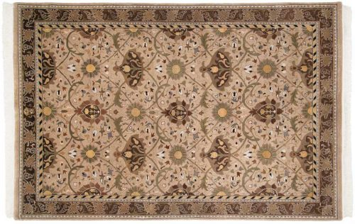 6×9 William Morris Beige Oriental Rug 038938