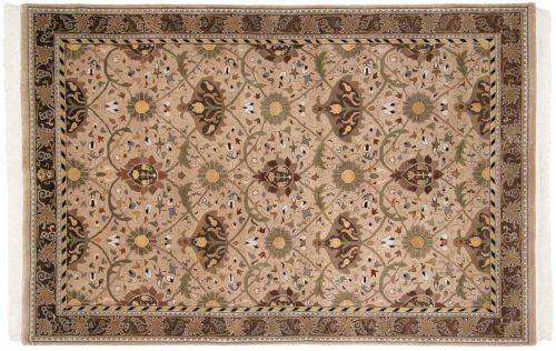 6×9 William Morris Beige Oriental Rug 038938
