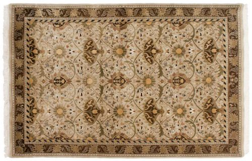 6×9 William Morris Beige Oriental Rug 039053
