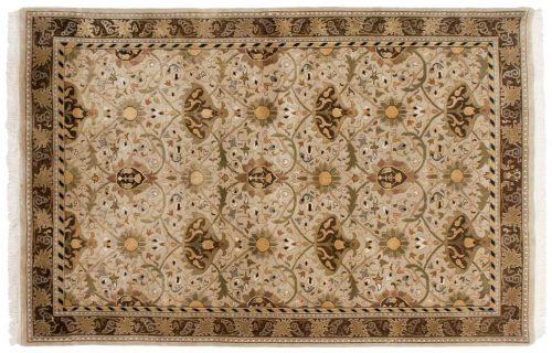 6×9 William Morris Beige Oriental Rug 039053