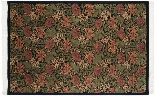 6×9 William Morris Black Oriental Rug 037113