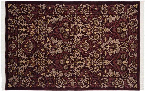 6×9 William Morris Burgundy Oriental Rug 036890