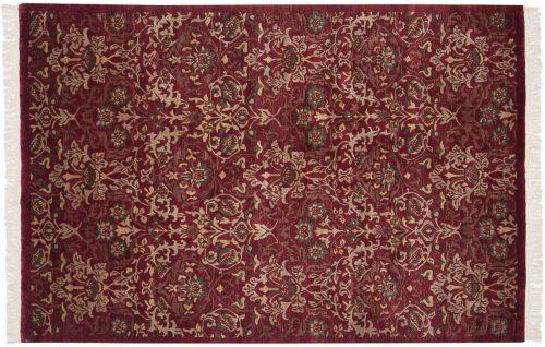 6×9 William Morris Burgundy Oriental Rug 038071