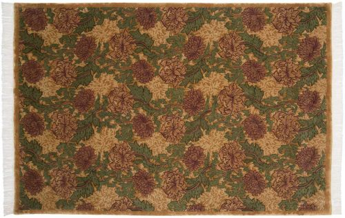 6×9 William Morris Gold Oriental Rug 037455
