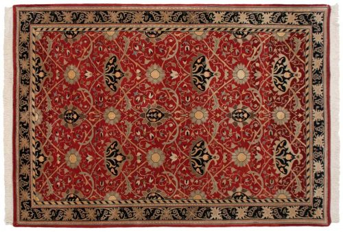 6×9 William Morris Red Oriental Rug 036650