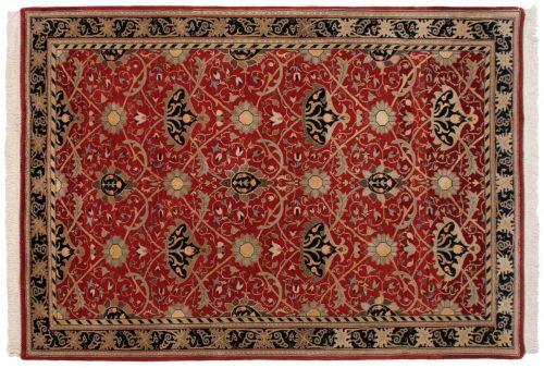 6×9 William Morris Red Oriental Rug 036650