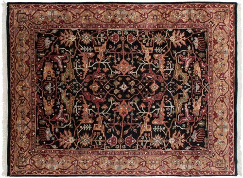 7×10 Heriz Black Oriental Rug 036838