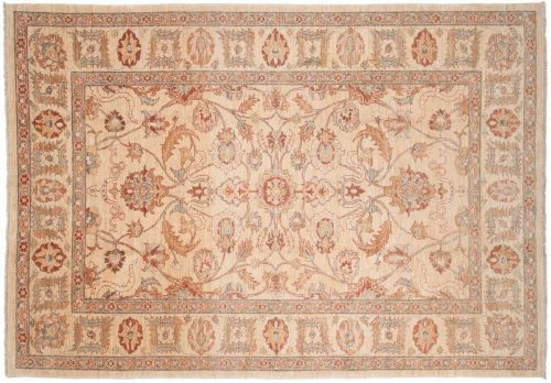 7×10 Sultanabad Ivory Oriental Rug 026154