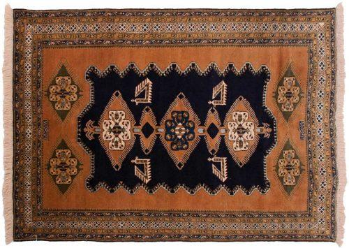7×10 Persian Ardebil Blue Oriental Rug 035494