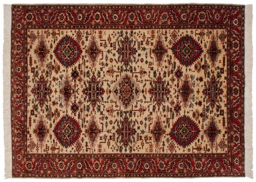 7×10 Persian Ardebil Ivory Oriental Rug 034931