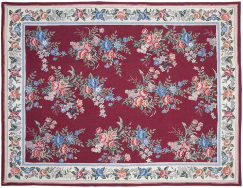7×10 Floral Bouquet Rose Oriental Rug 014166