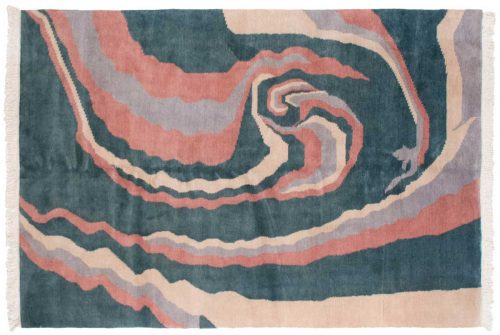 7×10 Tibetan Green Oriental Rug 030560