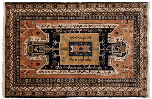 7×11 Persian Ardebil Rust Oriental Rug 035483