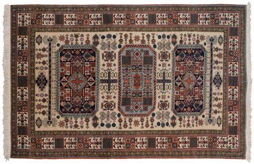 7×11 Persian Guba Ivory Oriental Rug 035422