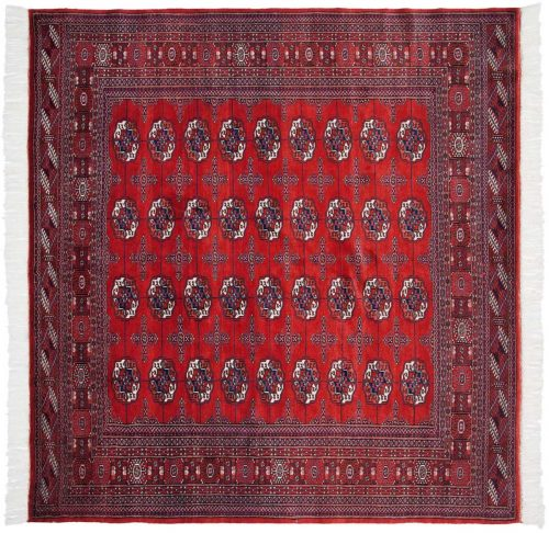 7×7 Bokhara Red Oriental Square Rug 021863