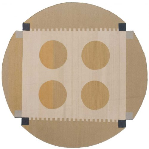 7×7 Nicholls Multi Color Oriental Round Rug 012674