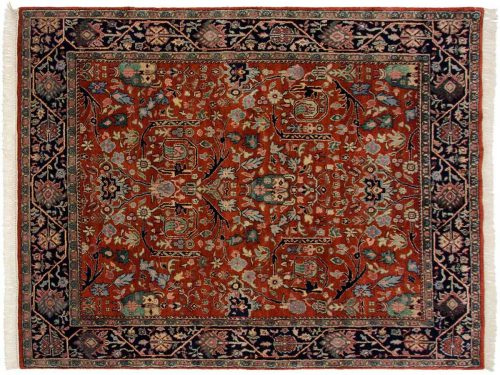 7×9 Bijar Rust Oriental Rug 024872