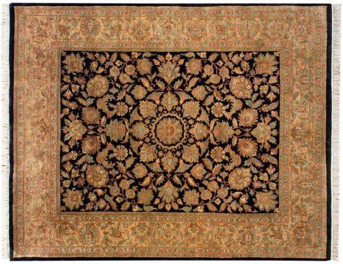 8×10 Agra Black Oriental Rug 027884