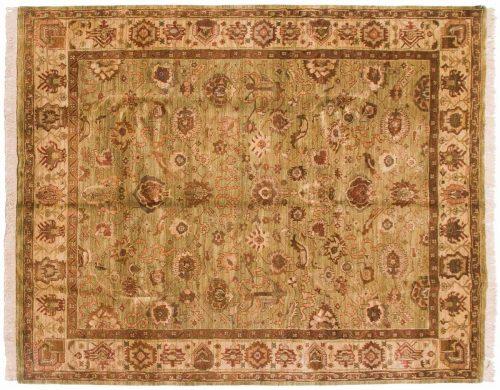 8×10 Agra Green Oriental Rug 038139