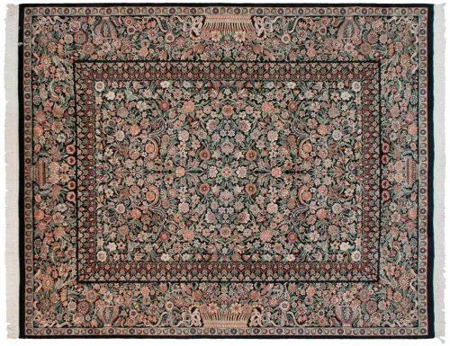 8×10 Aubusson Black Oriental Rug 025893