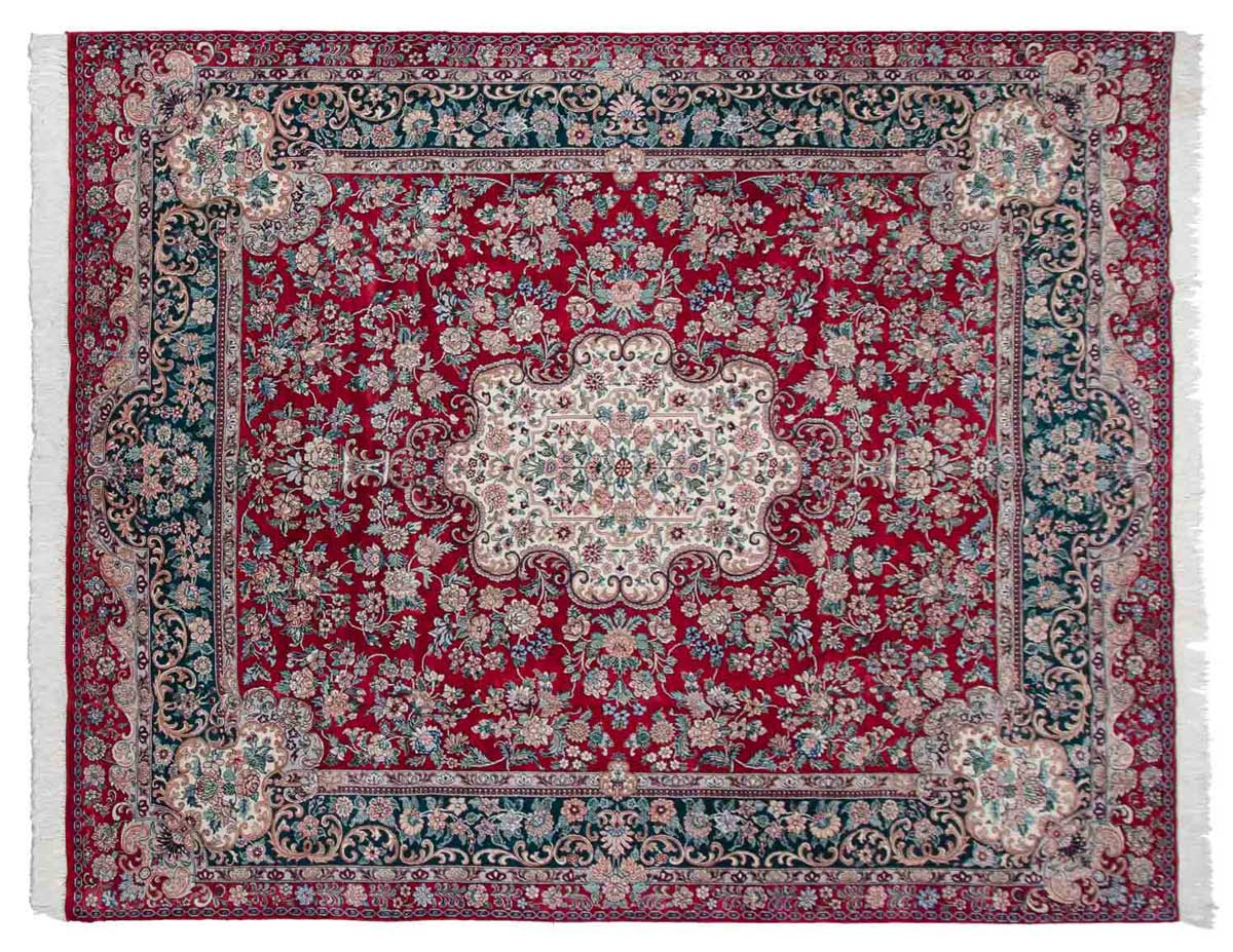 8x10 Aubusson Red Oriental Rug 025816