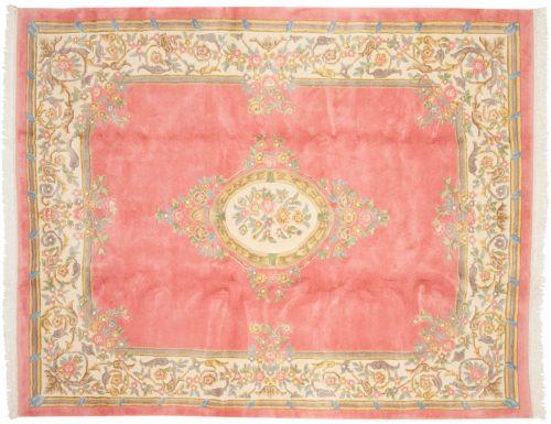 8×10 Aubusson Rose Oriental Rug 015090