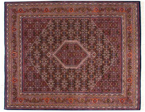 8×10 Bijar Burgundy Oriental Rug 036141