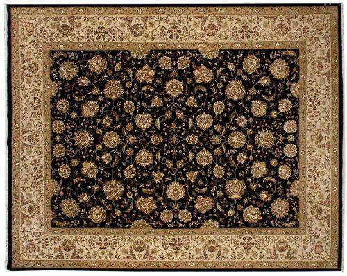 8×10 Kashan Black Oriental Rug 030150