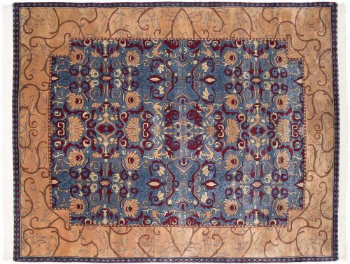 8×10 Abstract Blue Oriental Rug 031173