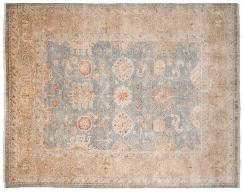8×10 Oushak Blue Oriental Rug 046364