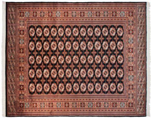 8×10 Bokhara Black Oriental Rug 021870