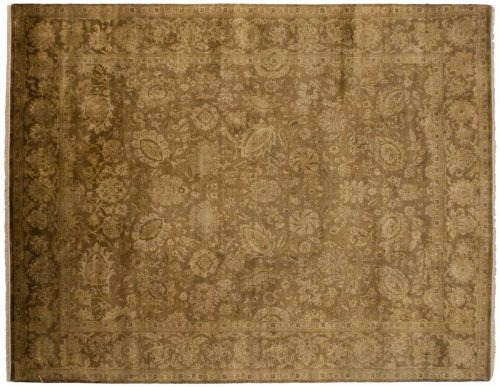 8×10 Oushak Brown Oriental Rug 023137