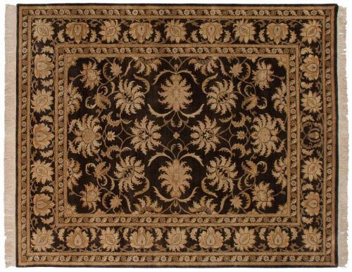 8×10 Agra Brown Oriental Rug 040283