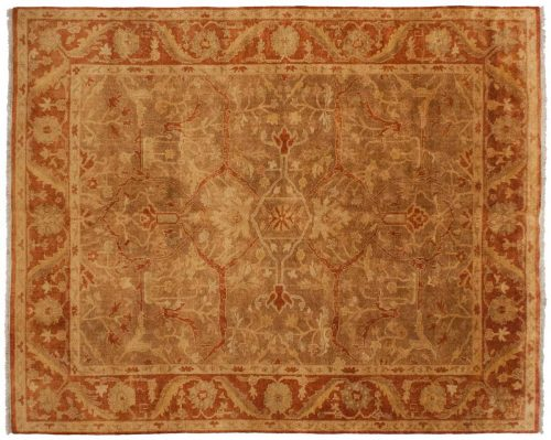 8×10 Oushak Brown Oriental Rug 042871